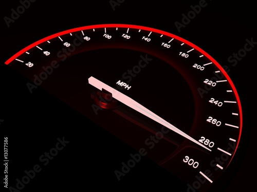 Speedometer. Vector design element.