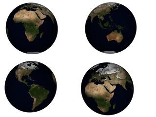 Terre 3D, planisphère