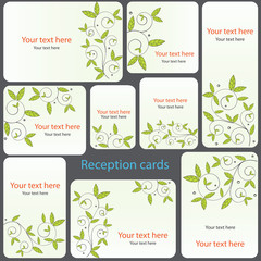 Reception card set