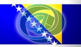 Flag of Bosnia Hertzigovina internet illustration poster