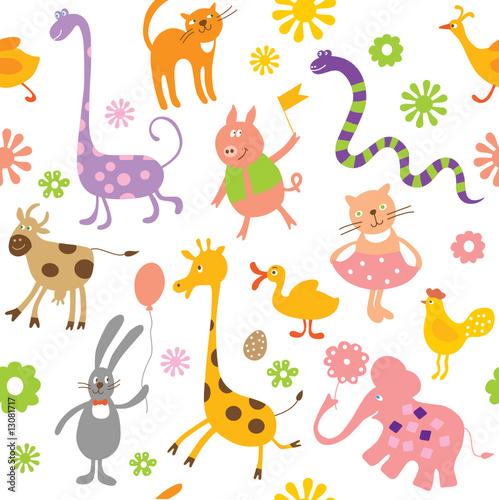 Fototapeta pattern for kids