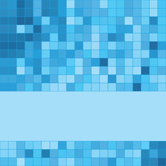 blue mosaic background with copy space