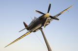 Spitfire on a pole