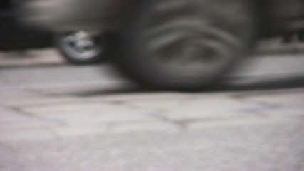 cars on road closeup