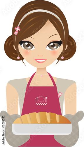 Cuisini re fichier vectoriel libre de droits sur la for Cuisinier 68