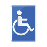 Disabled person sign poster