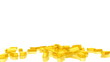 Falling gold bars.