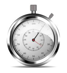 Chronomètre fond blanc