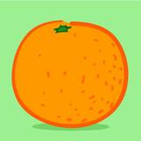 Orange - doodle poster