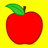 Apple - doodle poster