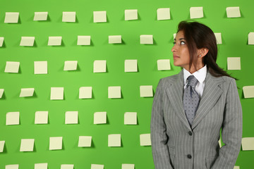 woman and postit