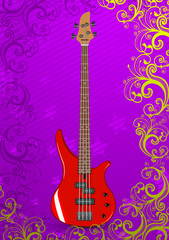 Illustration of bass guitar