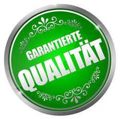 Garantierte Qualität Button