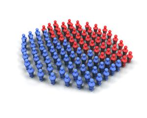 Majorité groupe 3d bleue