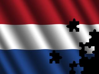 Dutch flag jigsaw