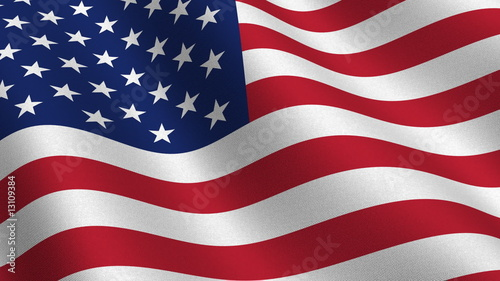 USA flag - seamless loop