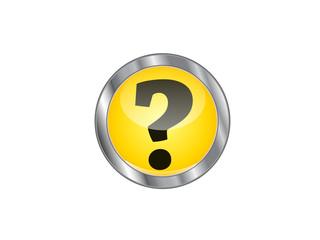 vector question button
