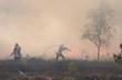 Leinwandbild Motiv Flächenbrand im Rosenheimer Hochmoor