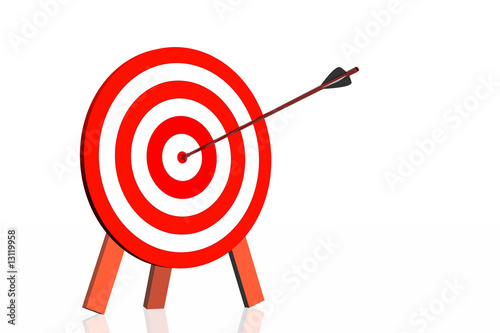 dartboard with arrow