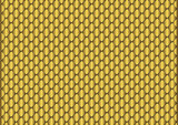 Sparkling background from small golden rhombuses poster