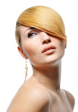 Beauty blond style hairstyle poster