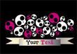 emo vector skull elements background