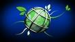 Environnement écologie 3D organique fond bleu animation boucle