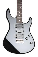 Close up of an electrical guitar