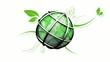 Environnement écologie 3D organique fond blanc animation