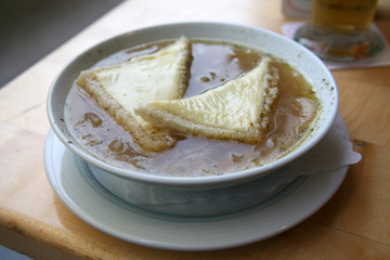 The French onions soup
