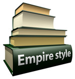 Education books - empire style poster