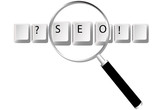 SEO search engine optimized magnifying glass website