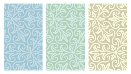 Seamless Floral Web Backgrounds