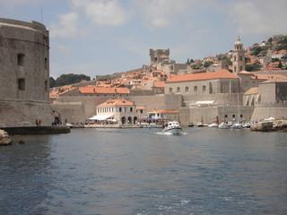 Entrance in harbour Dubrovnik