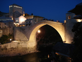 Ottoman old bridge in Mostar