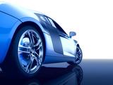 Modern sport car (3d render)-