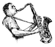 Afro ameerican saxofonista de jazz