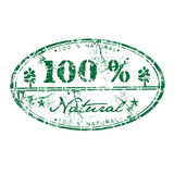One hundred percent natural rubber stamp