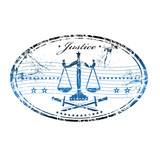 Justice rubber stamp poster