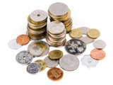 Heap of coins from all over the world
