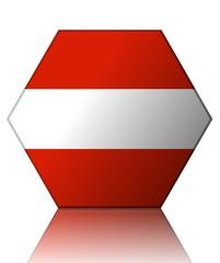 autriche drapeau hexagone austria flag