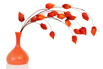 Orange floral decoration