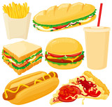Fototapety Fast food set