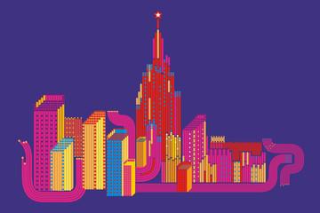Illustration the Mega-city
