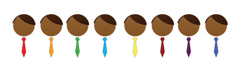 businessman symbols  to name different groups