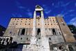 tempio di Vespasiano e Tabularium nel foro di Roma in Italia