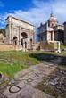 arco di Settimio Severo nel foro di Roma in Italia