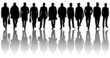 Silhouettes of boys