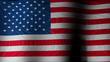 USA flag seamless loop based on a photograph