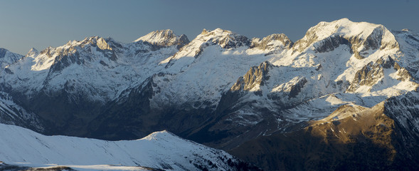 panorama of the Pyrenees